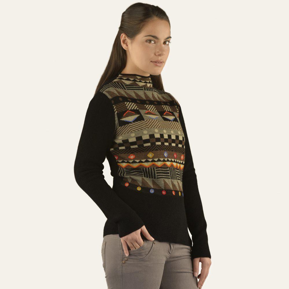 GEO pull en bébé alpaga - écharpes, bonnets et pulls en alpaga. Fine Alpaca, fine laine et coton du Pérou, vêtements en fibres naturelles.