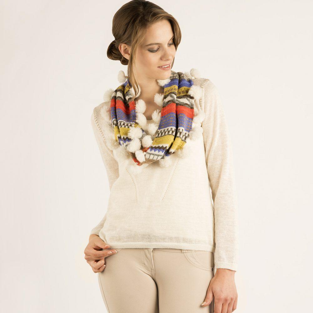 Écharpe SNOOD en bébé alpaga - écharpes, bonnets et pulls en alpaga. Fine Alpaca, fine laine et coton du Pérou, vêtements en fibres naturelles.