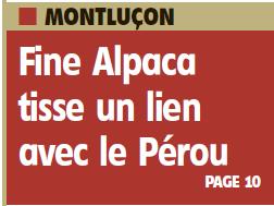 Presse Article La Montagne - Fine Alpaca